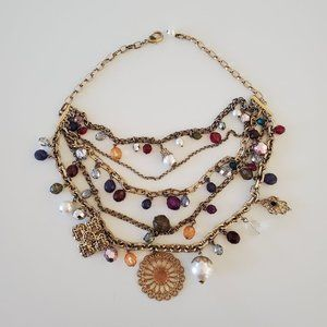 Gorgeous gold like necklace with beads